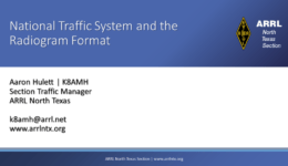 National Traffic System and Radiograms