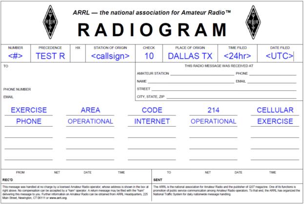 Radiogram example